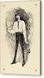 Harper Pennington, Portrait Of Whistler With A Paintbrush Acrylic Print