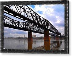 Harrahan Railroad Bridges Acrylic Print by Reese Lewis