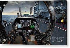 Harrier Cockpit Acrylic Print by Paul Fearn