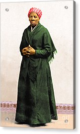 Harriet Tubman 20140210v1 Acrylic Print by Wingsdomain Art and Photography