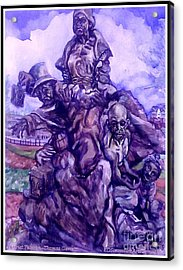 Harriet Tubman-underground Railroad-black Moses Acrylic Print by Keith OBrien Simms