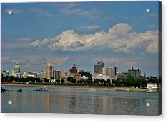 Harrisburg Skyline Acrylic Print by Ed Sweeney