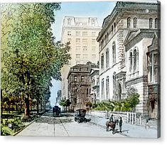 Harrison Residence East Rittenhouse Square Philadelphia C 1890 Acrylic Print by A Gurmankin