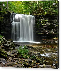 Harrison Wright Falls Acrylic Print by Frozen in Time Fine Art Photography