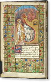 Harrowing Of Hell Acrylic Print by British Library
