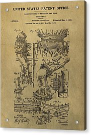 Harry Houdini's Diving Suit Patent Acrylic Print