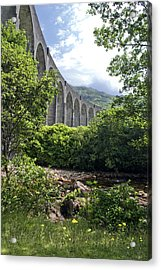 Acrylic Print featuring the photograph Harry Potters Glenfinnan Viaduct Scotland by Sally Ross