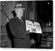 Acrylic Print featuring the photograph Harry Truman 1959 by Martin Konopacki Restoration