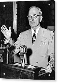 Harry Truman Press Conference Acrylic Print