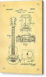 Hart Gibson Electric Guitar Pickup Patent Art 1937 Acrylic Print by Ian Monk