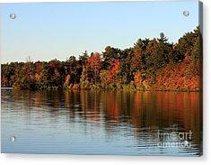 Hart Pond Golden Hour Acrylic Print