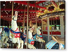 Acrylic Print featuring the photograph Hartford Carousel by Barbara McDevitt
