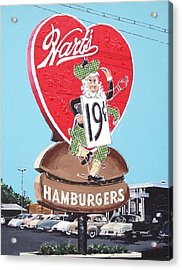 Hart's Acrylic Print by Paul Guyer