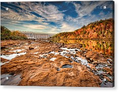 Hartwell Dam Acrylic Print by Brent Craft
