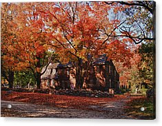 Acrylic Print featuring the photograph Hartwell Tavern Under Canopy Of Fall Foliage by Jeff Folger
