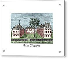 Harvard College - 1720 Acrylic Print