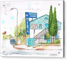 Harvard House Motel In Hollywood Blvd - Los Angeles - California Acrylic Print