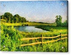 Acrylic Print featuring the digital art Harvard Landscape by Kai Saarto