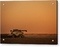 Harvest At Sunset Acrylic Print