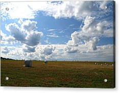Acrylic Print featuring the photograph Harvest Blue  by Neal Eslinger