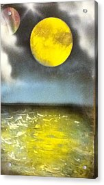Harvest Moon Acrylic Print by Angel Griffin