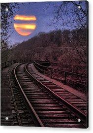Harvest Moon Acrylic Print by Bill Cannon