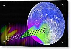 Harvest Moon - Moonshine Acrylic Print by Steve Ohlsen