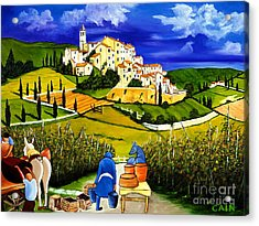 Harvest The Grapes Acrylic Print