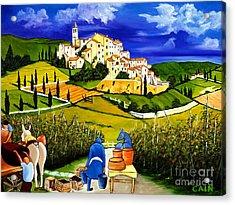 Harvest The Grapes Acrylic Print