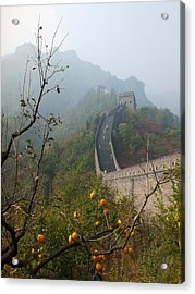 Harvest Time At The Great Wall Of China Acrylic Print