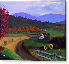 Acrylic Print featuring the painting Harvest Time by Janet Greer Sammons