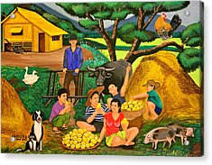 Acrylic Print featuring the painting Harvest Time by Lorna Maza