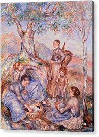 Harvesters Breakfast Acrylic Print by Pierre-Auguste Renoir