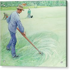 Harvesters Acrylic Print by Carl Larsson