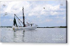 Harvesting The Waters Acrylic Print