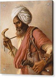 Hasan, Water Carrier To The Artist Acrylic Print by Gertrude Ellen Burrard