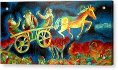 Hasidishe Journey To Rebbe  Acrylic Print by  Leon Zernitsky