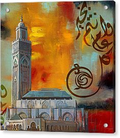 Hassan 2 Mosque Acrylic Print by Corporate Art Task Force