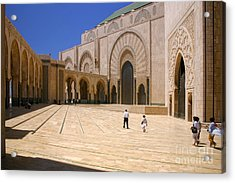 Hassan II Mosque Grand Mosque Sour Jdid Casablanca Morocco Acrylic Print by PIXELS  XPOSED Ralph A Ledergerber Photography