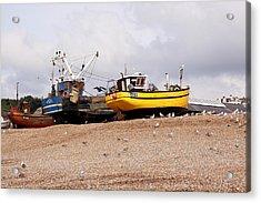 Hastings Fishing Boats Acrylic Print