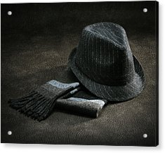 Hat And Scarf Acrylic Print