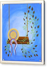 Hat On A Swing Acrylic Print
