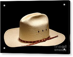 Hat On Black Acrylic Print by Olivier Le Queinec