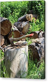 Hatchet In Block Acrylic Print