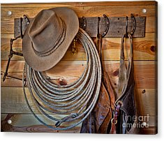 Hats And Chaps Acrylic Print by Inge Johnsson