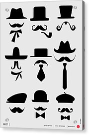 Hats And Mustaches Poster 1 Acrylic Print
