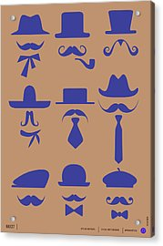 Hats Glasses And Mustache Poster 2 Acrylic Print