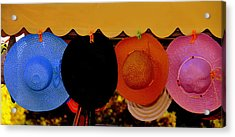 Acrylic Print featuring the photograph Hats Of Many Colors by Caroline Stella