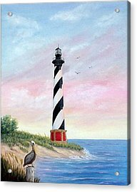 Hatteras Sunrise Acrylic Print by Fran Brooks