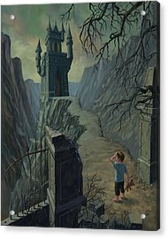 Haunted Castle Nightmare Acrylic Print by Martin Davey